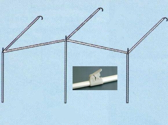 Gestänge Sonnenvordach Alu-PowerGrip 28mm bis 1155cm Umlauf
