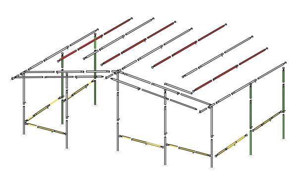 Sturmpaket für 32 mm Stahlgestänge