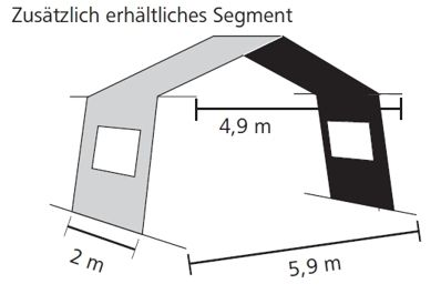 Verlängerungssegment Nepal Vario 200 cm breit