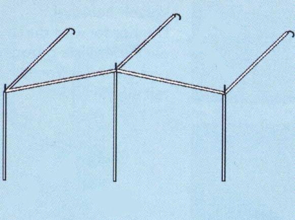 Gestänge Sonnenvordach Alu 28mm bis 1155cm Umlauf