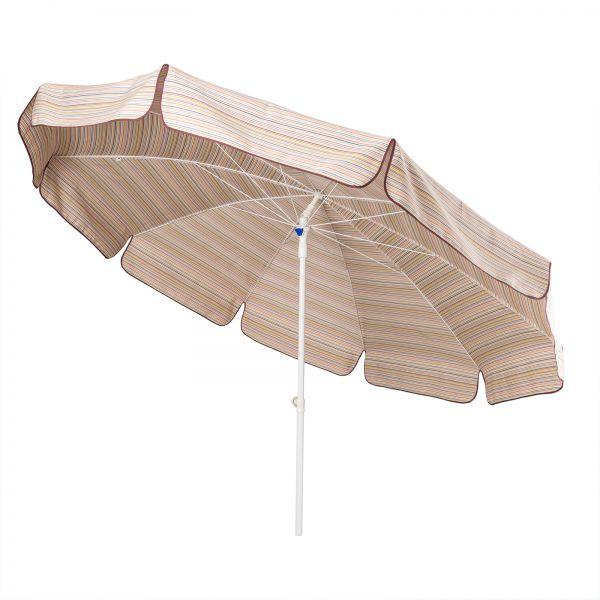 Sonnenschirm Nizza von Stromeyer bunt gestreift 250 cm Ø