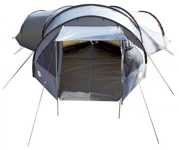Familien-Zelt BiFrost Y6 von Primus Vordereingang als Sonnendach ausgestellt