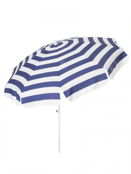 Stromeyer Sonnenschirm Mainau 200 cm Ø blau/weiß gestreift