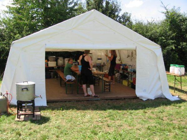 Küchenzelt Camp von Tortuga 600x595cm, schwer entflammbar